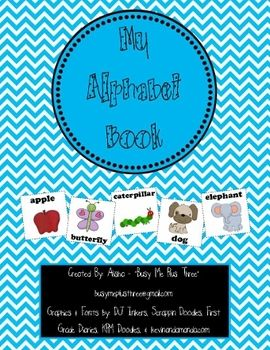 """This 146 page Alphabet Book Packet is PERFECT for Pre-K or Kindergarten! This is a great unit for introduction to letters and sounds. It is also great for handwriting practice. This file contains the following items: *Instructions *""""My Alphabet Book"""" black line, includes 26 half sheet pages (2 versions) *Alphabet Pictures in color (2 versions) *Alphabet Pictures black line (2 versions) *26 Letter"""