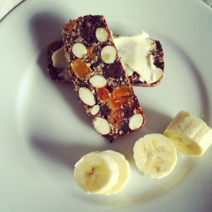 nut/dried fruit bars with chocolate. Low carb food