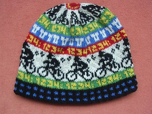 Cycle race beanie by Sandra Jäger