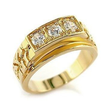 Awesome Men's Wedding Rings | Men's engagement rings-1.2ct 3 Stone Brilliant Cut Mens Engagement ...