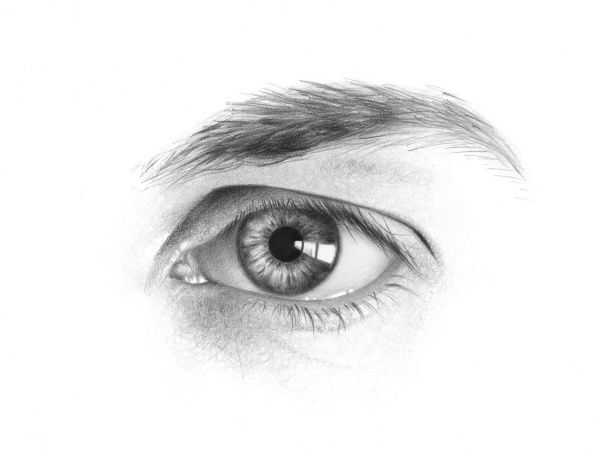 I could have a whole board just for drawing eyes. They have so much detail and are so crucial to a portrait.