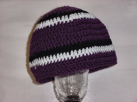 Support your team in your favorite NFL colors! Wear this crochet hat at your next football party, sports bar or football game. Imagine having this specially made in your friend's or foes favorite football team colors!