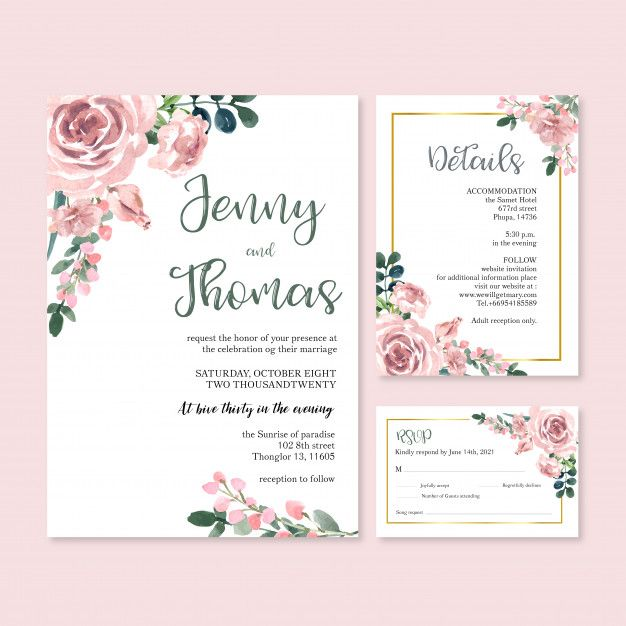 Download Happy Wedding Card Floral Garden Invitation Card Marriage Rsvp Detail For Free Wedding Cards Garden Invitations Happy Wedding