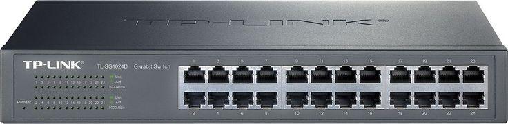 TP-Link - 24-Port 10/100/1000 Mbps Gigabit Ethernet Switch - Gray, TLSG1024D