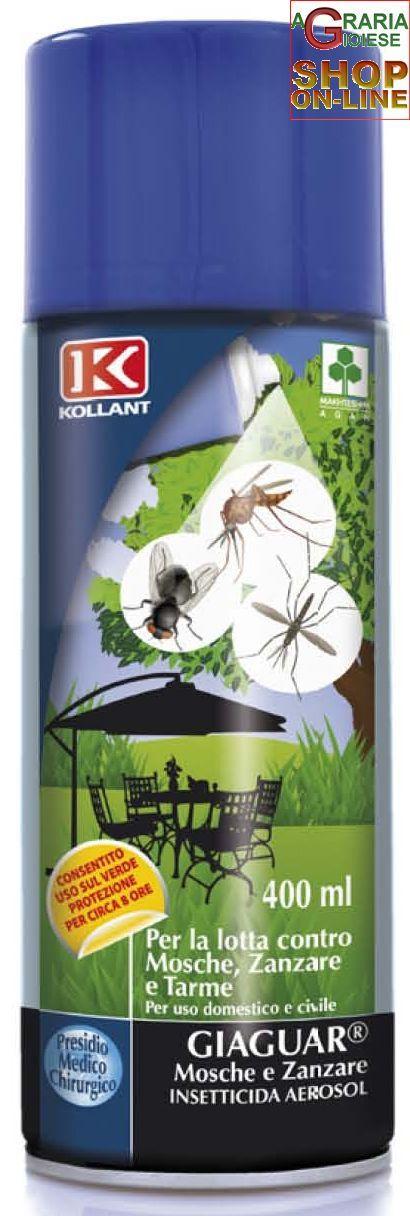 KOLLANT INSETTICIDA SPRAY GIAGUAR GARDEN MOSCHE E ZANZARE ML. 400 https://www.chiaradecaria.it/it/insetticidi-uso-civile/9505-kollant-insetticida-spray-giaguar-garden-mosche-e-zanzare-ml-400-8002297111041.html