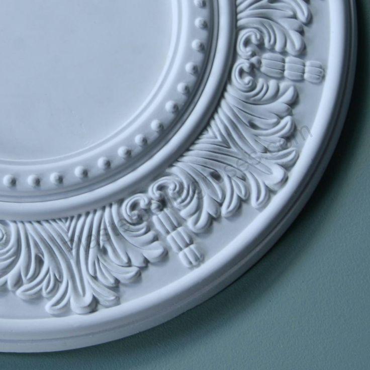Bedrooms 1 & 2 - Plaster Ceiling Rose | Palmette Border | Diameter 330mm | SPR005