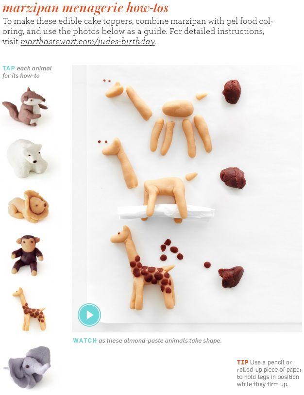 making marzipan animal figures