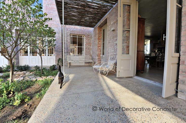 At WODC we want to create a sense of family, and with our Ground and Sealed Concrete floors you would not want to leave your Patio.  #wodc #stuccoitaliano #buildings #classical #stylist #style #interiordesign #concrete #modern #homestyling #designer #sandblasted #view #designed #architect #photographer #modernarchitecture #designs #creativeconcrete #polishedconcrete #decor #quote #design #architecture #decorating