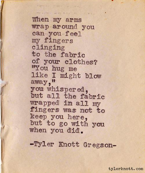 My arms around you