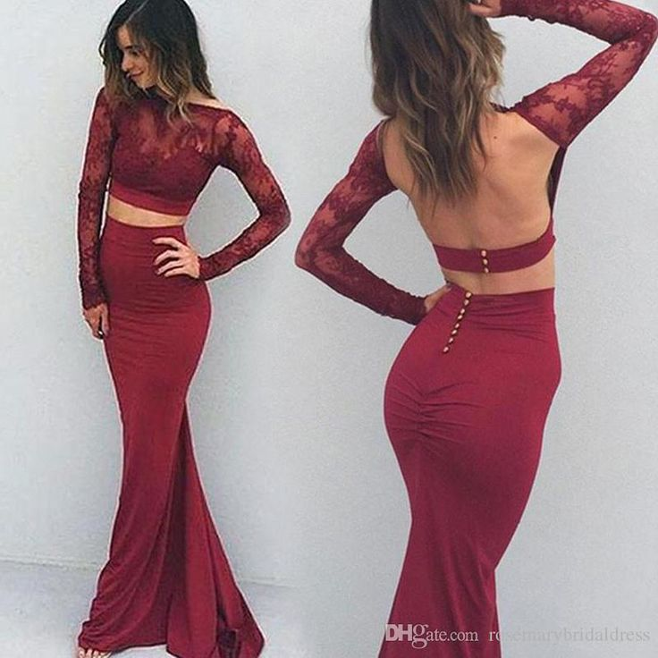 Burgundy Open Back Prom Dresses with Full Sleeves Mermaid Elegant Women Night Dresses Evening Wear Special Occasion Gowns Party Dresses Long Bridesmaid Dresses Formal Dress Online with $124.58/Piece on Rosemarybridaldress's Store | DHgate.com
