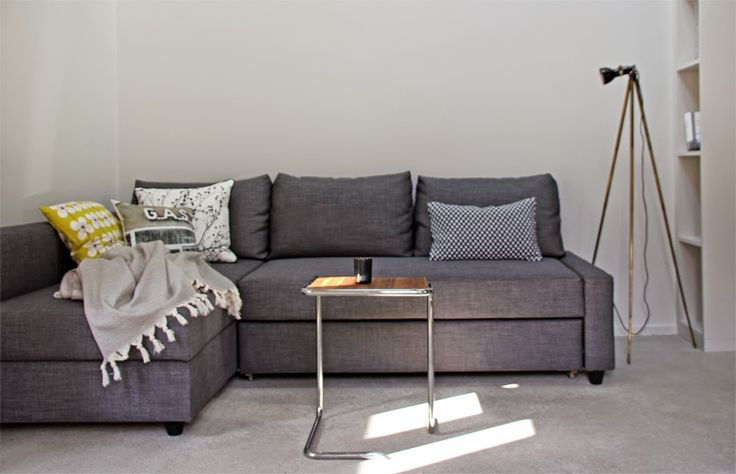 Ikea Friheten Sofa Bed In Skiftebo Dark Gray In A Minimalist Loft By Anneliwest Berlin25