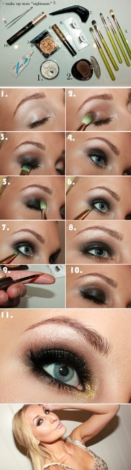 #Glitter #winged #eye #eyes #makeup #diy #eyemakeup #makeuptutorial #beauty