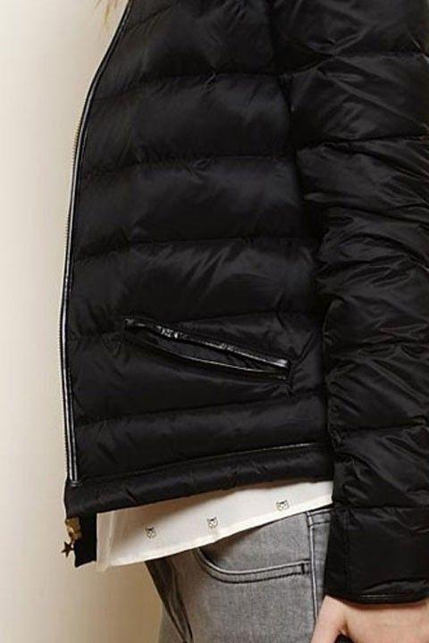 veste Torent noir 100% nylon + ouatinage duvet/plume - manteau Femme - Des