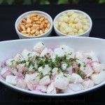"""This recipe for Peruvian fish cebiche is preparared with fresh fish, limes, onions, spicy peppers, and fresh cilantro. Cebiche, also known as ceviche or seviche, usually consists of seafood that is marinated with lime juice, the acidity of the lime juice actually """"cooks"""" the seafood. Not all"""