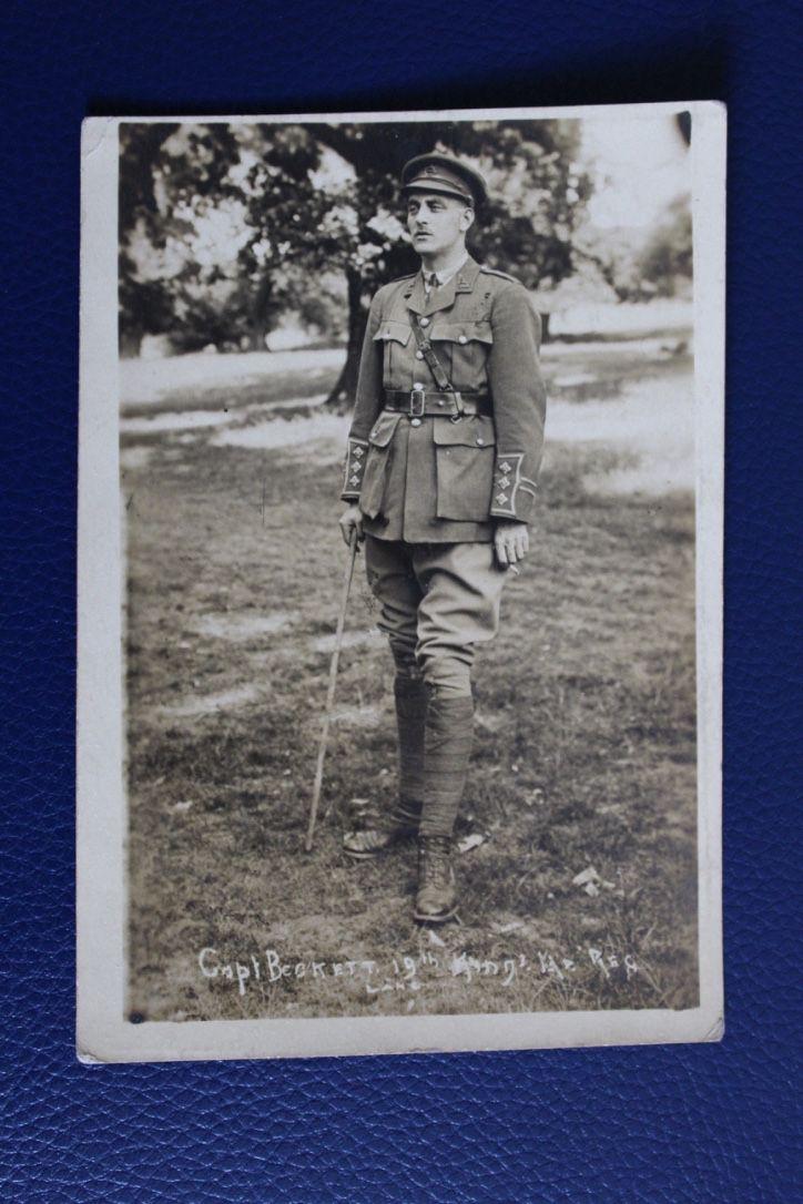 WW1 Era Photographic Postcard - Captain Beckett KLR (copy), £6.50