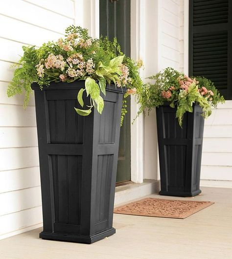 25 best ideas about front porch planters on pinterest for Potted plants by front door