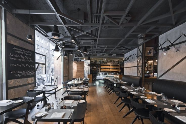 Restaurant in an industrial interior