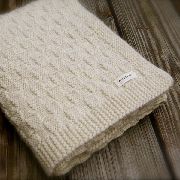 NobleKnits.com - Big Bad Wool Basket Weave Baby Blanket Knitting Pattern PDF, $6.95 (http://www.nobleknits.com/big-bad-wool-basket-weave-baby-blanket-knitting-pattern-pdf/)