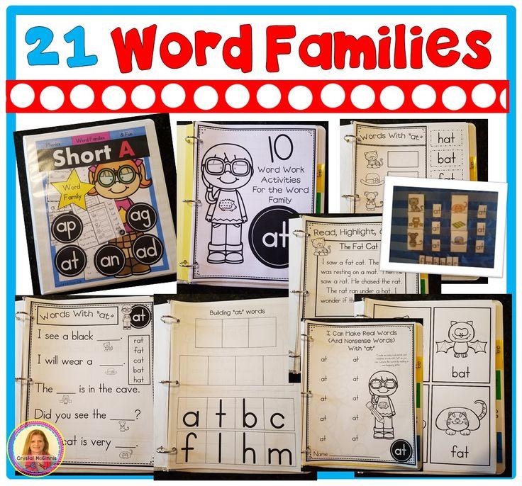 Family Activities: Best 25+ Word Family Activities Ideas On Pinterest