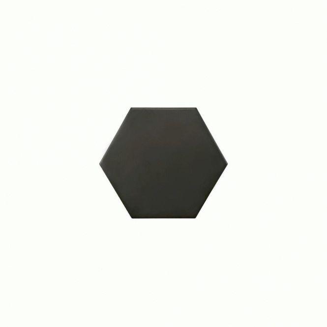 Hexagon Matt Black 14.2cm x 16.4cm Wall & Floor Tile (about £100)