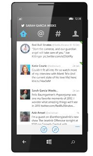 Twitter for Windows Phone now includes the Home, Connect, Discover, and Me tabs found in other versions of the app.