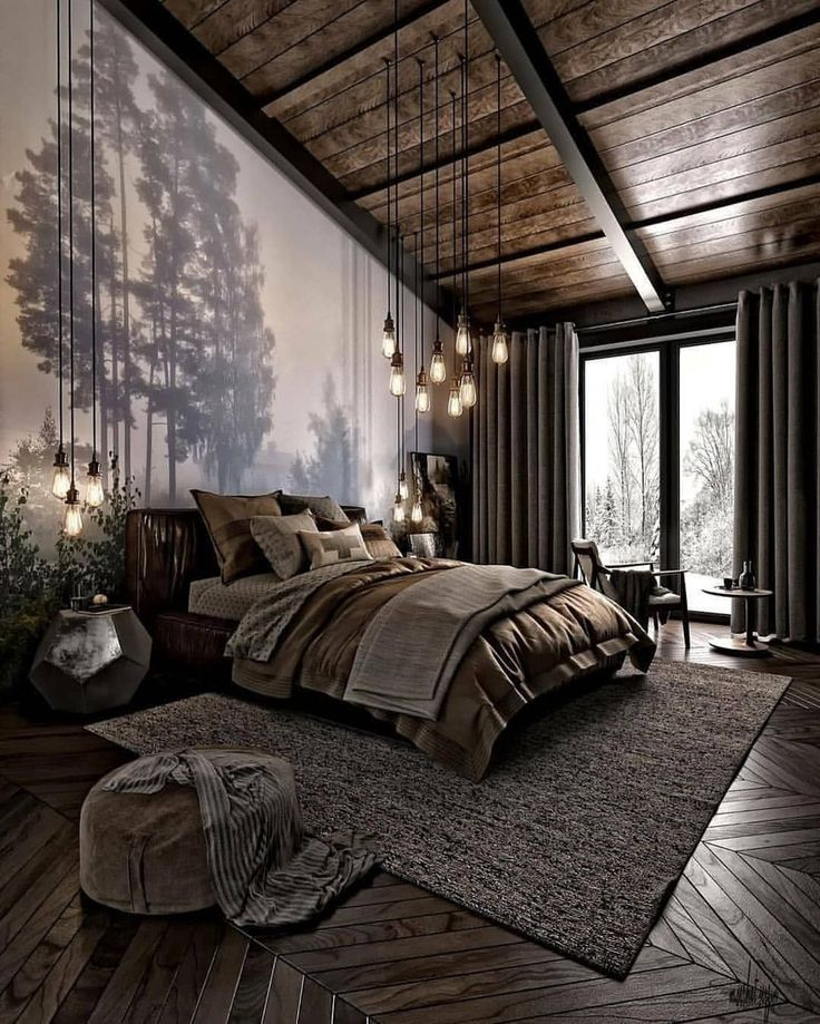 Amazing Modern Bedroom Interior Design Full Of Textures With Big Windows Natural Light Amazing Bedroo Cozy Bedroom Design Gorgeous Bedrooms Modern Bedroom Cozy master bedroom with large