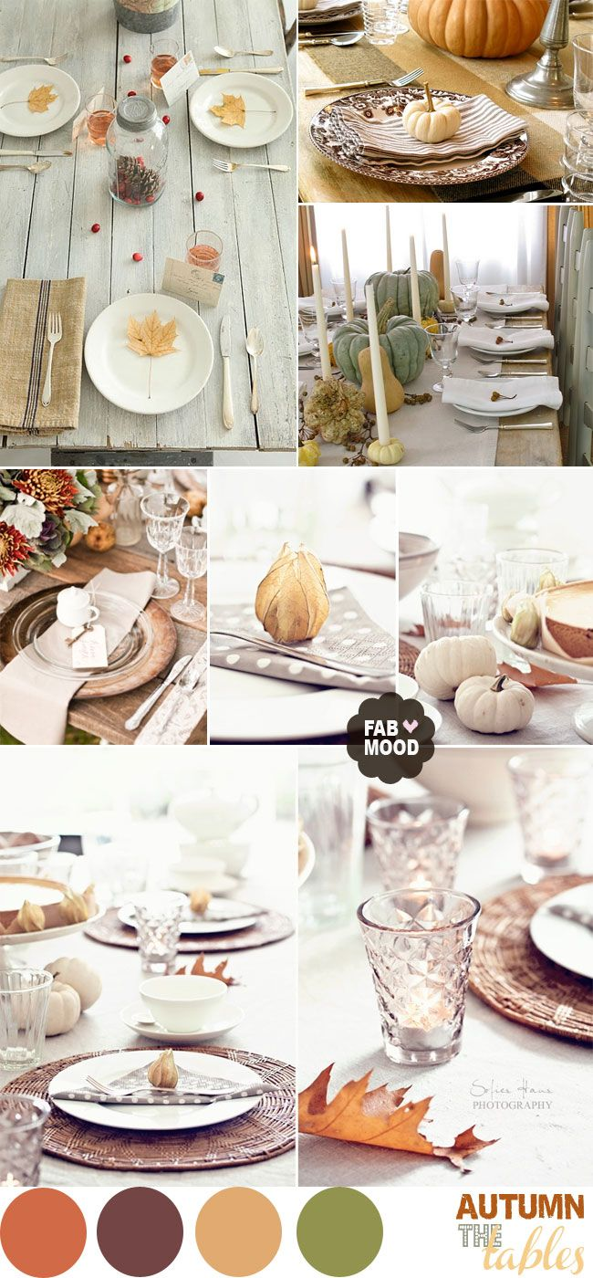 Simple way to decor your wedding table ,Autumn Wedding Table Setting Ideas | fabmood.com
