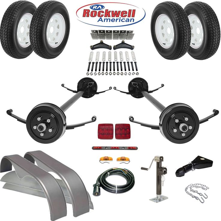 Tandem Brake Axle Trailer Parts Kit 7 000 Lb Capacity In
