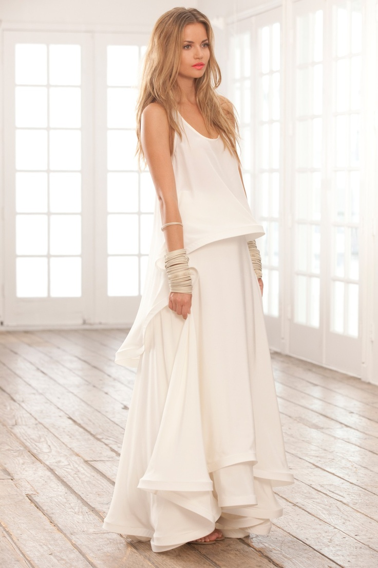 25 best images about falda blanca, total white look on ...