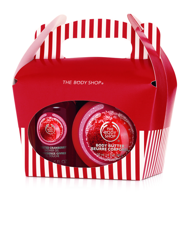 The Body Shop Frosted Cranberry Treat Box R100.00