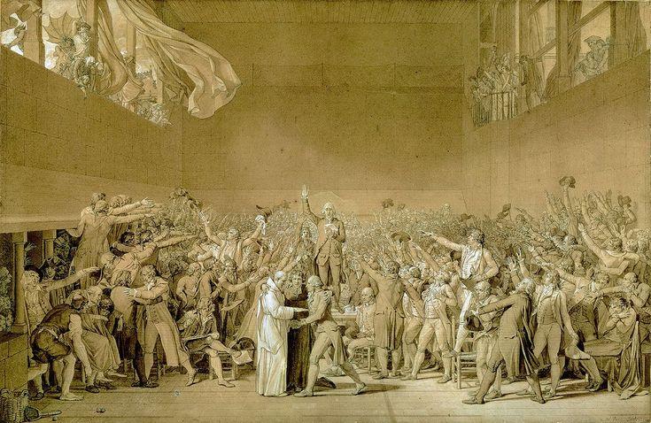 Le Serment du Jeu de paume, 20 juin 1789 (esquisse). Jacques-Louis DAVID © Photo RMN-Grand Palais