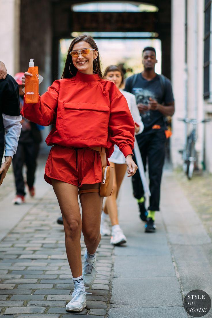 Paris Men's Fashion Week Spring 2018 Street Style: Bella Hadid
