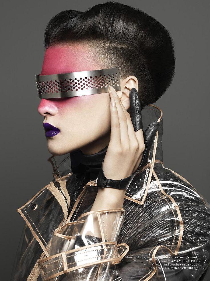 Yuan @ Bellona in vinyl Prada coat, photographed by Koichiro Doi for FutureClaw Magazine #5