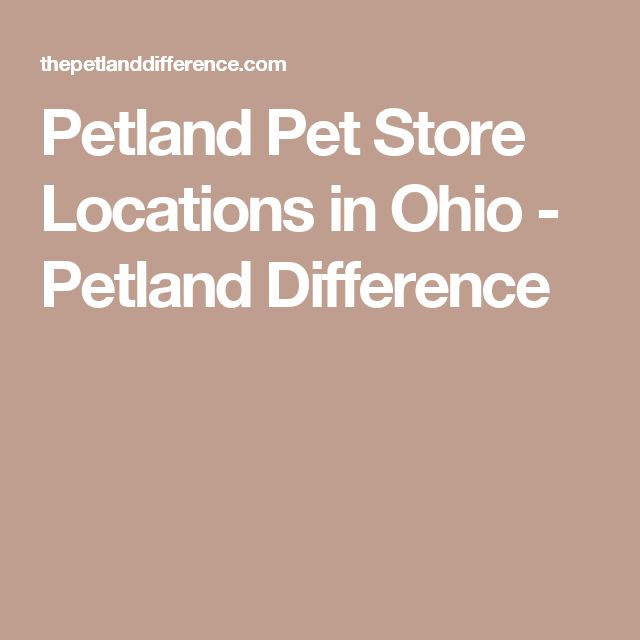 Petland Pet Store Locations in Ohio - Petland Difference
