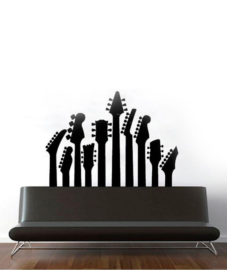 Guitarras - Vinilo Adhesivo, decoración de paredes. $129.900 COP (Envío Gratis). Encuentra más vinilos adhesivos en www.giferent.com/vinilos-decorativos-adhesivos