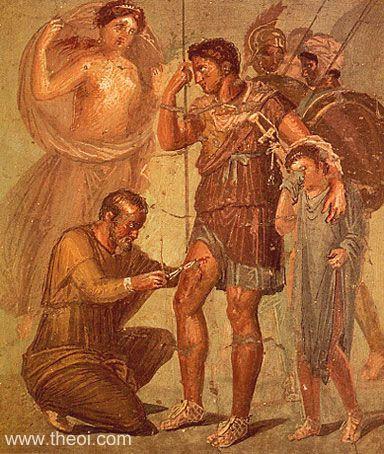 Roman wall fresco from Pompei  Museo Archeologico di Napoli
