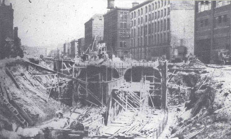 Construction of the Cincinnati Subway, which was never completed.