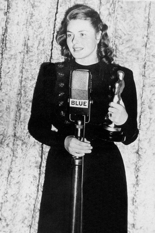 Ingrid Bergman, 1945 Oscar winner for Gaslight