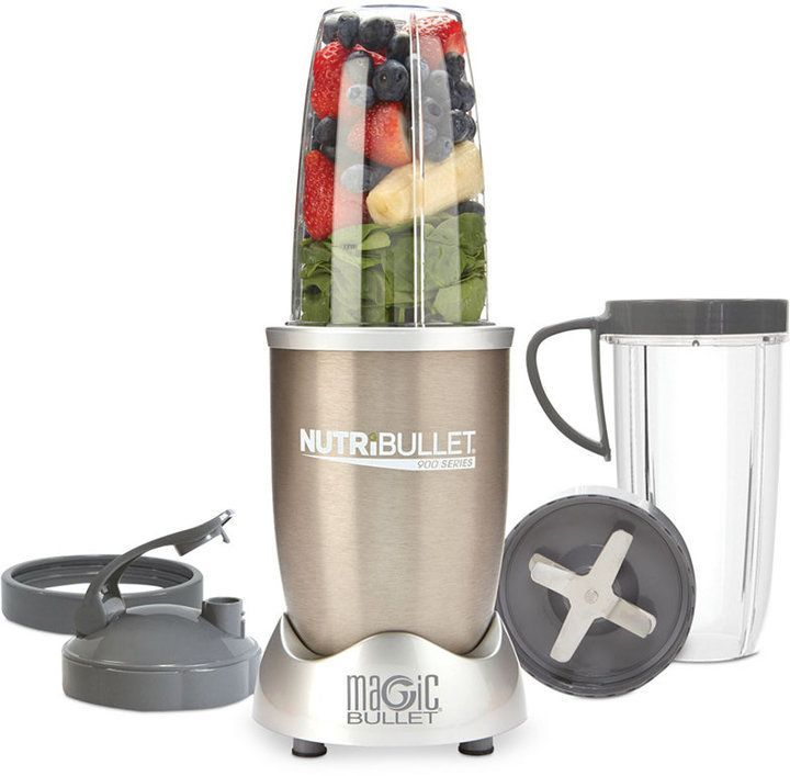 NutriBullet® Pro NB90901 900-Watt Professional Series by Magic Bullet - Give your life a change of pace. Unlike blenders and juicers, the NutriBullet® is specifically engineered to help break down the cell walls of food to create some of the most nutritional smoothies available. This unique extraction process transforms food into its most nutritious, most absorbable state. This super-powered 900 watt blender offers even more room to mix & make your favorite smoothies. Including everything…