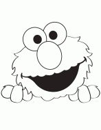 Peek A Boo Elmo Coloring Page