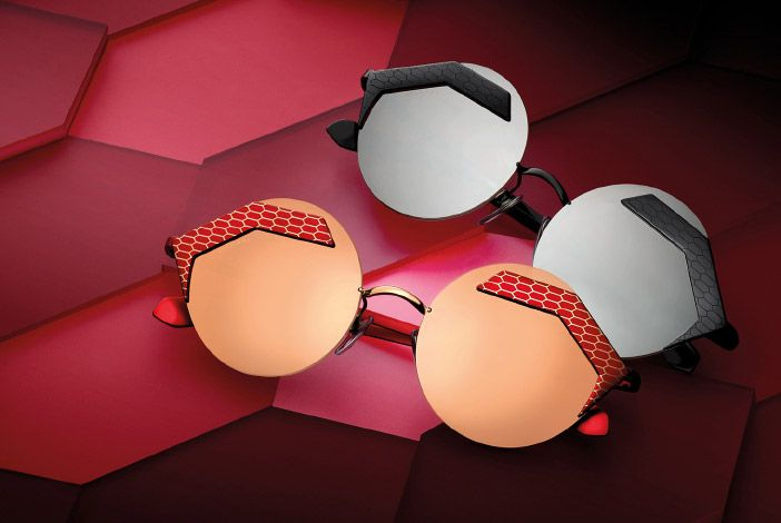 Bulgari Serpenteyes luxury sunglasses. The dangerously seductive allure of the snake, Bulgari's daring attitude, the iconic strength of the Serpenti symbol.