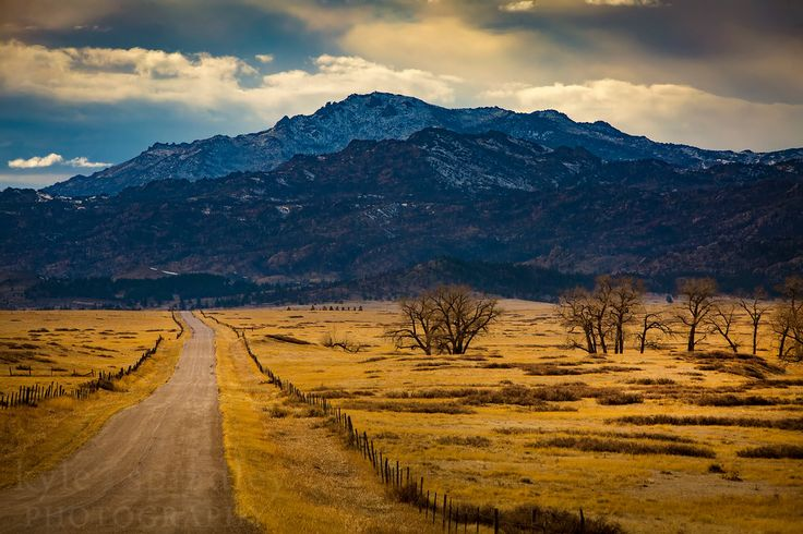 A dirt road to Laramie Peak, outside of Wheatland, Wyoming.