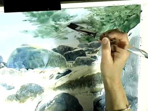▶ Painting a Tree-Filled Background in Watercolors - YouTube