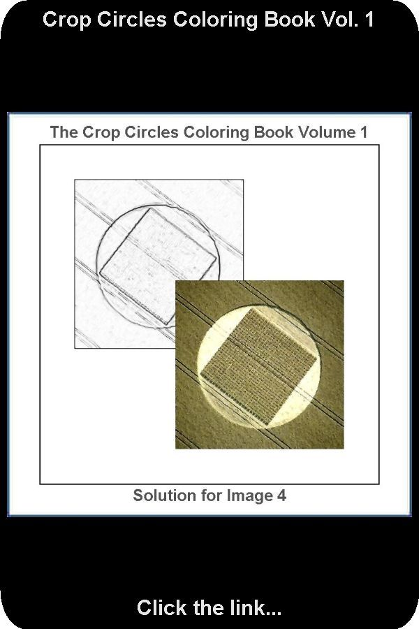 Solution For Drawing Number 4 From The Crop Circles Coloring Book Vol 1 Coloring Books Crop Circles Color