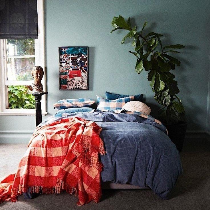 Kip & Co Slate Cord QUEEN Quilt Cover - #inside #velvet #luxury #linen #kipandco #bedroom #styling #cord