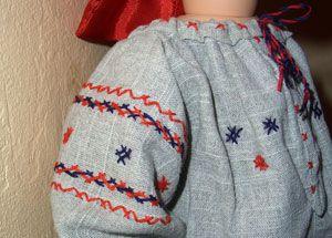 embroidery, needlework, stitch, вышивка, folk costume, doll