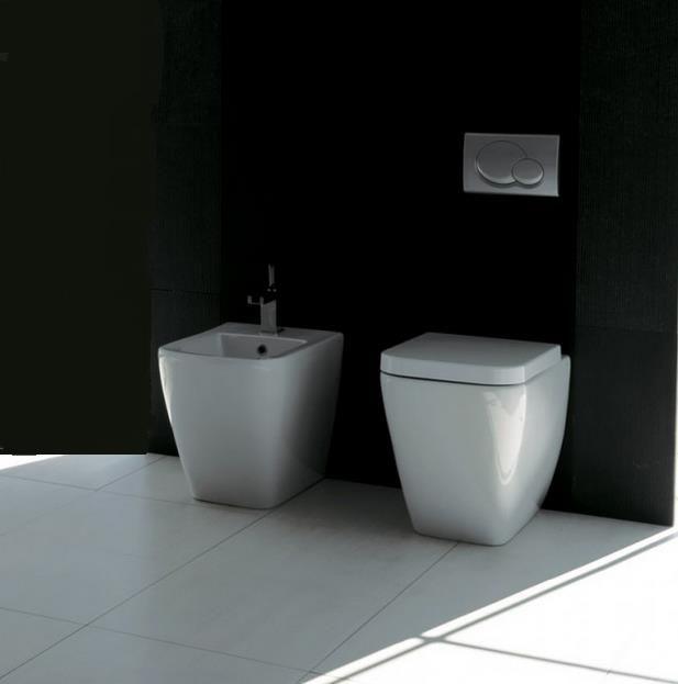 #Esedra #Quadra #Toilette, #Bidet und original #WC-Deckel soft-close