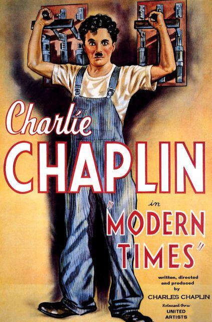Tiempos modernos (Modern Times) es un largometraje de 1936 escrito y dirigido, por Charles Chaplin, que fue también el actor principal. Esta película muestra un reflejo de las condiciones desesperadas de las cuales era víctima un empleado de la clase obrera en la época de la Gran depresión, en la visión dada por la película, por la eficiencia de la industrialización y la producción en cadena. En la película también intervienen Paulette Goddard, Henry Bergman, Stanley Sandford y Chester…