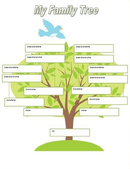 Printable Fill in Family Tree | ... for Kids: Family Tree Notebooking Page » Climbing My Family Tree