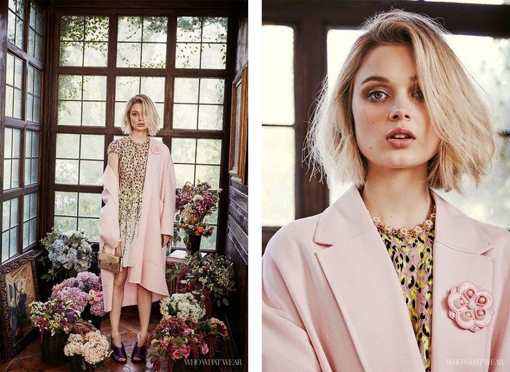 Bella Heathcote Takes on Spring's Most Valuable Print via @WhoWhatWear